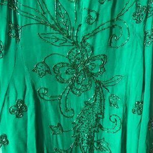 Luxe Dresses - Emerald Beaded Dress